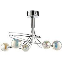 Product photograph showing Luna Swirl 5-light Globe Ceiling Light