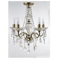 Product photograph showing Luxe Collection Alessandra Flush 5-light Chandelier