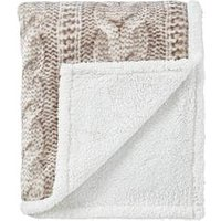 Product photograph showing Cascade Home Printed Knit Throw
