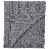 Product photograph showing Cascade Home Chunky Knit Throw