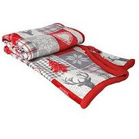 Product photograph showing Cascade Home Christmas Check Throw