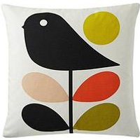 Product photograph showing Orla Kiely House Early Bird Cotton Square Cushion