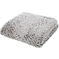Product photograph showing Catherine Lansfield Faux Fur Wolf Throw