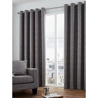 Product photograph showing Curtina Camberwell Jacquard Lined Eyelet Curtains