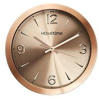 Product photograph showing Hometime Copper Finish Aluminium Wall Clock