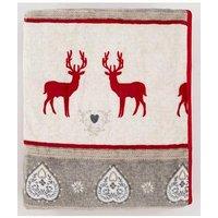 Product photograph showing Cascade Home Christmas Reindeer Fleece Throw