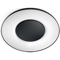 Product photograph showing Philips Hue White Ambiance Ceiling Light - Black Works With Alexa