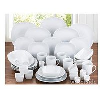 Product photograph showing Waterside 42-piece Square Dinner Set