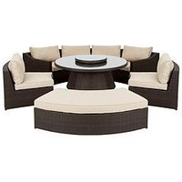 Product photograph showing Genoa 6-piece Dining Set With Round Table