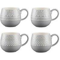 Product photograph showing Mason Cash Set Of 4 Impressions Mugs