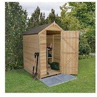 Product photograph showing Forest 6 X 4ft Overlap Pressure Treated Foot Apex Shed Without Windows