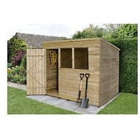 Product photograph showing Forest 8 X 6ft Overlap Pressure Treated Foot Pent Shed