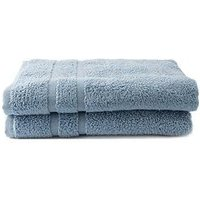 Product photograph showing Silentnight Set Of 2 Zero Twist Bath Towels