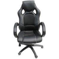 Product photograph showing Alphason Jensen Office Chair - Black