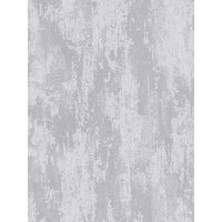 Product photograph showing Boutique Industrial Texture Silver Wallpaper