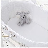 Product photograph showing Silentnight Silentnight Pk 2 Jeresy Fitted Moses Basket Sheets