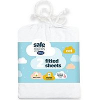 image-Silentnight Pack Of 2 Jersey Fitted Cot Sheets