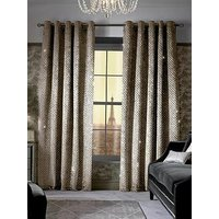 Product photograph showing Kylie Minogue Grazia Lined Eyelet Curtains