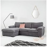 Product photograph showing Amalfi 3-seater Standard Back Left Hand Fabric Corner Chaise Sofa