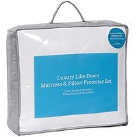 image-Hotel Collection Luxury Like Down Mattress And Pillow Protector Set