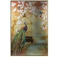 Product photograph showing Arthouse Suki Peacock Framed Canvas Print
