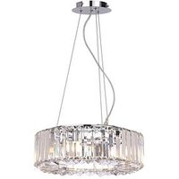 Product photograph showing Marquis By Waterford Foyle 4-light Bar Pendant Chrome Ceiling Light