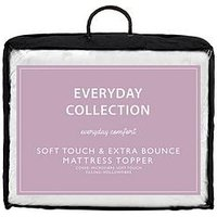 image-Everyday Collection Soft Touch &Amp Extra Bounce Mattress Topper