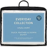 Product photograph showing Everyday Collection Duck Feather And Down 10 5 Tog Duvet