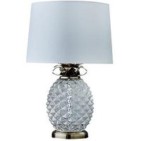 Product photograph showing Acandi Glass Pineapple Table Lamp