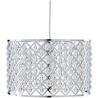 Product photograph showing Sydney Beaded Easy-fit Pendant Lightshade