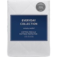 image-Everyday Collection Cotton Percale Quilted Mattress Protector