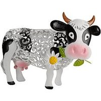 Product photograph showing Smart Solar Solar Silhouette Daisy Cow Garden Ornament