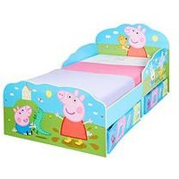 Product photograph showing Peppa Pig Peppa Pig Toddler Bed With Underbed Storage By Hellohome