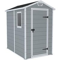Product photograph showing Keter 4x6 Apex Manor Resin Shed