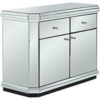 image-Plinth Mirrored Ready Assembled Compact Sideboard