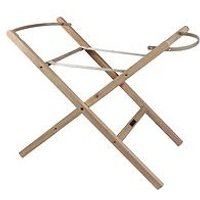 Product photograph showing Clair De Lune Self-assembly Folding Wooden Moses Basket Stand