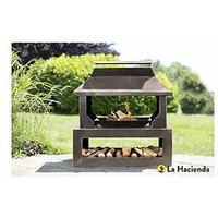 Product photograph showing La Hacienda Stonehurst Outdoor Heater With Logstore