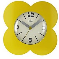 Product photograph showing Orla Kiely Spot Flower Dandelion Alarm Clock