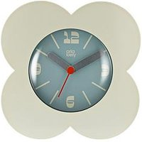 Product photograph showing Orla Kiely Spot Flower Cream Alarm Clock