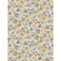 Product photograph showing Arthouse Painted Dot Ochre Amp Grey Wallpaper