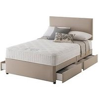 Product photograph showing Layezee Made By Silentnight Addison 800 Pocket Memory Divan Bed With Storage Options