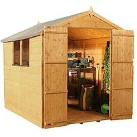 Product photograph showing Mercia 8 X 6ft Premium Shiplap Apex Shed With Window