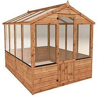 Product photograph showing Mercia 8 X 6ft Shiplap Greenhouse