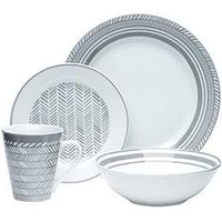 Product photograph showing Waterside 32-piece Herringbone Dinner Set
