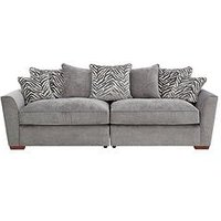 Product photograph showing Kingston Fabric 4 Seater Scatter Back Sofa