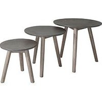Product photograph showing Hudson Living Bergen Nest Of Tables - Grey
