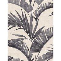 Product photograph showing Arthouse Banana Palm Charcoal Wallpaper