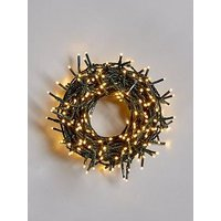 Product photograph showing Festive 380 Warm White Sparkle Indoor Outdoor Christmas Lights