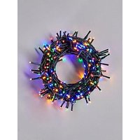 Product photograph showing Festive 380 Multi Coloured Sparkle Indoor Outdoor Christmas Lights