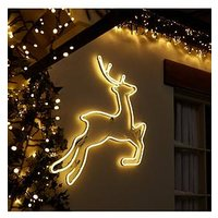 Product photograph showing Neon Reindeer Wall Light Outdoor Christmas Decoration